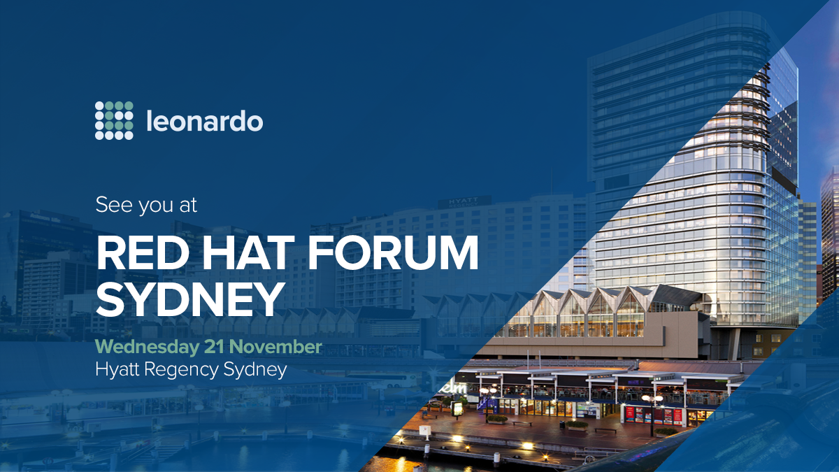 2018 Leonardo RED HAT FORUM Cover FB